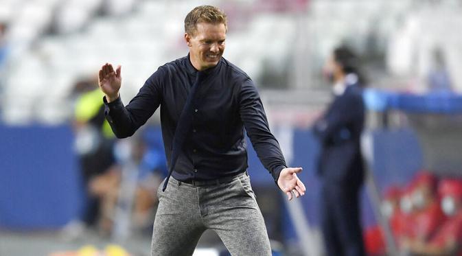Ekspresi pelatih RB Leipzig