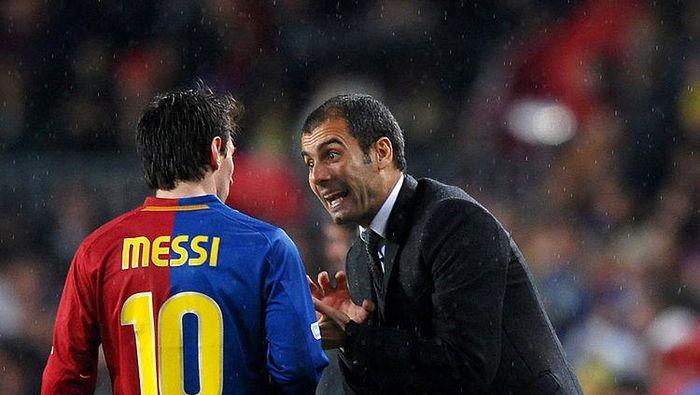 Lionel Messi dan Pep Guardiola sama-sama butuh trofi Liga Champions