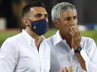 Barcelona Kalahkan Napoli, Quique Setien Sempat Gugup di Pinggir Lapangan