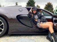 Georgina Rodriguez Pamer Mobil Bugatti Veyron Milik Cristiano Ronaldo Seharga Rp 32,7 Miliar