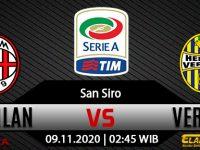 Prediksi Bola AC Milan Vs Hellas Verona 9 November 2020