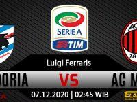 Prediksi Bola Sampdoria Vs AC Milan 07 Desember 2020