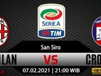 Prediksi Bola AC Milan vs Crotone 7 Februari 2021