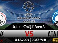 Prediksi Bola Ajax vs Atalanta 10 Desember 2020