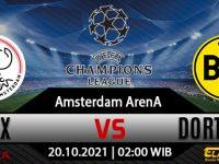 Prediksi Bola Ajax vs Borussia Dortmund 20 Oktober 2021
