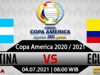 Prediksi Bola Argentina Vs Ekuador 04 Juli 2021