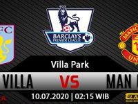 Prediksi Bola Aston Villa Vs Manchester United 10 Juli 2020