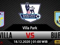 Prediksi Bola Aston Villa vs Burnley 18 Desember 2020