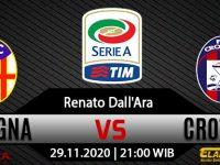 Prediksi Bola Bologna vs Crotone 29 November 2020