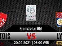 Prediksi Bola Brest Vs Lyon 20 Februari 2021
