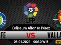 Prediksi Bola Getafe Vs Real Valladolid 03 Januari 2021