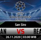Prediksi Bola Inter Milan vs Real Madrid 26 November 2020