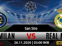 Prediksi Bola Inter Milan vs Real Madrid 26 November 2020