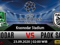 Prediksi Bola FC Krasnodar vs PAOK 23 September 2020