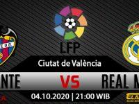 Prediksi Bola Levante vs Real Madrid 4 Oktober 2020