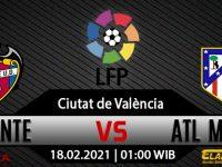 Prediksi Bola Levante Vs Atletico Madrid 18 Februari 2021