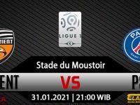 Prediksi Bola Lorient vs PSG 31 Januari 2021