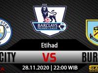 Prediksi Bola Manchester City vs Burnley 28 November 2020