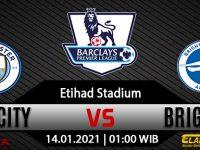 Prediksi Bola Manchester City vs Brighton & Hove Albion 14 Januari 2021