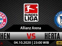Prediksi Bola Bayern Munchen vs Hertha Berlin 4 Oktober 2020