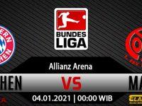 Prediksi Bola Bayern Munchen vs Mainz 05 4 Januari 2021