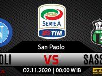 Prediksi Bola Napoli vs Sassuolo 2 November 2020