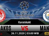 Prediksi Bola Olympiakos vs Manchester City 26 November 2020