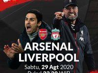 Jangan Lupa Ada Laga Seru Community Shield : Arsenal Vs Liverpool, Sabtu 29 Agustus 2020