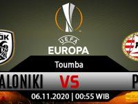 Prediksi Bola PAOK Thessaloniki vs PSV Eindhoven 6 November 2020