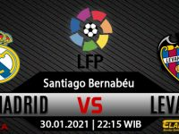 Prediksi Bola Real Madrid vs Levante 30 Januari 2021