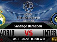 Prediksi Bola Real Madrid vs Inter Milan 4 November 2020