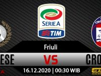 Prediksi Bola Udinese vs Crotone 16 Desember 2020