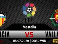 Prediksi Bola Valencia Vs Real Valladolid 08 Juli 2020