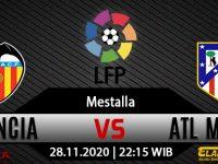 Prediksi Bola Valencia vs Atletico Madrid 28 November 2020