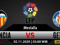 Prediksi Bola Valencia vs Getafe 2 November 2020