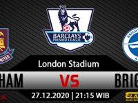 Prediksi Bola West Ham United Vs Brighton Hove Albion 27 Desember 2020