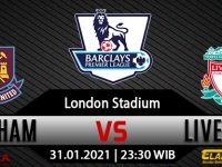 Prediksi Bola West Ham United Vs Liverpool 31 Januari 2021