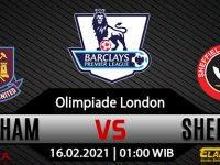 Prediksi Bola West Ham United Vs Sheffield United 16 Februari 2021