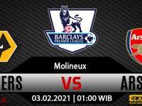 Prediksi Bola Wolverhampton Wanderers Vs Arsenal 03 Februari 2021
